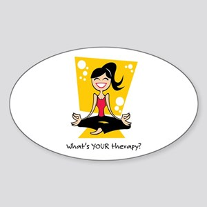 Yoga Therapy Oval Sticker