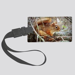 Red Squirrel Large Luggage Tag