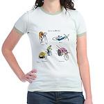 Cats on Bikes Jr. Ringer T-Shirt