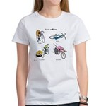 Cats on Bikes Women's T-Shirt