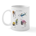 Cats on Bikes Mug