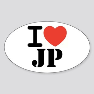 I love JP Oval Sticker
