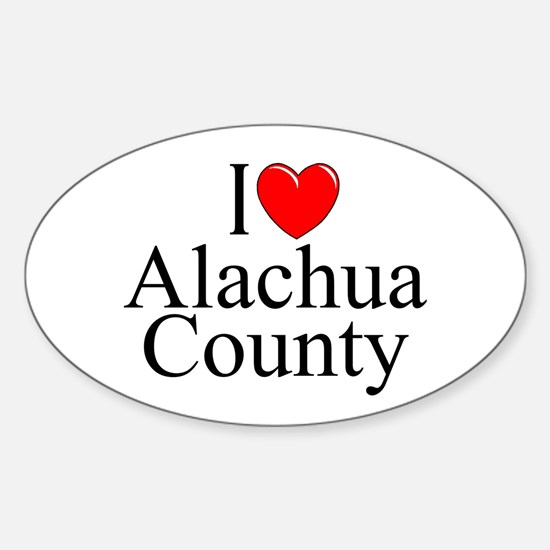 """I Love Alachua County"" Oval Decal"
