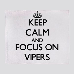 Keep Calm by focusing on Vipers Throw Blanket
