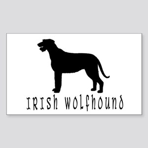 Irish Wolfhound w/ Text #2 Rectangle Sticker