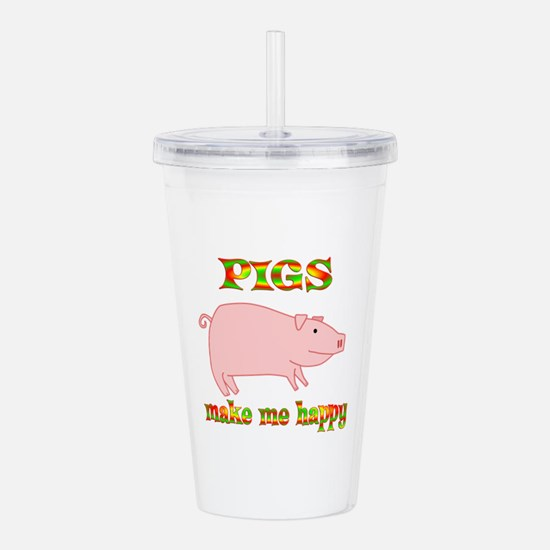 Pigs Make Me Happy Acrylic Double-wall Tumbler