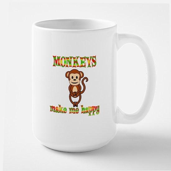 Monkeys Make Me Happy Large Mug