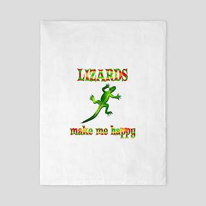 Lizards Make Me Happy Twin Duvet