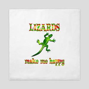 Lizards Make Me Happy Queen Duvet