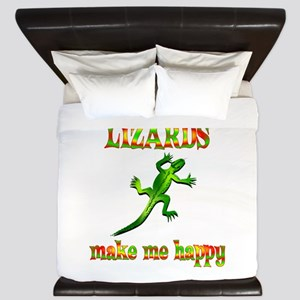 Lizards Make Me Happy King Duvet