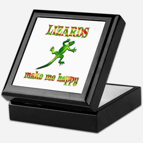 Lizards Make Me Happy Keepsake Box