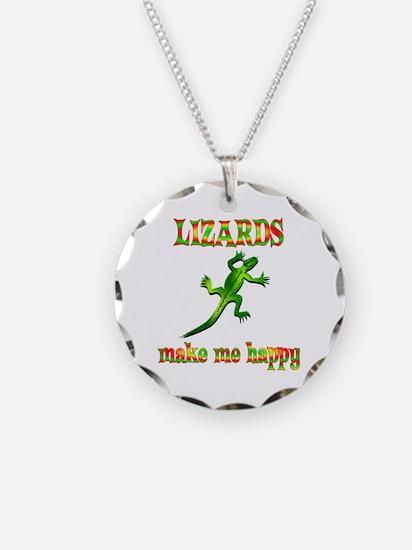 Lizards Make Me Happy Necklace