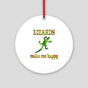 Lizards Make Me Happy Ornament (Round)