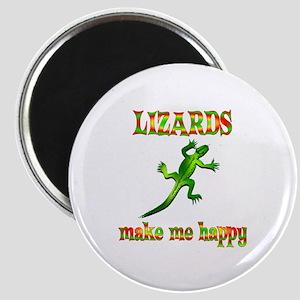 Lizards Make Me Happy Magnet