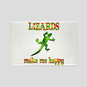 Lizards Make Me Happy Rectangle Magnet