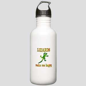 Lizards Make Me Happy Stainless Water Bottle 1.0L