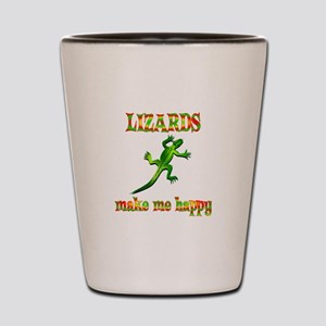 Lizards Make Me Happy Shot Glass