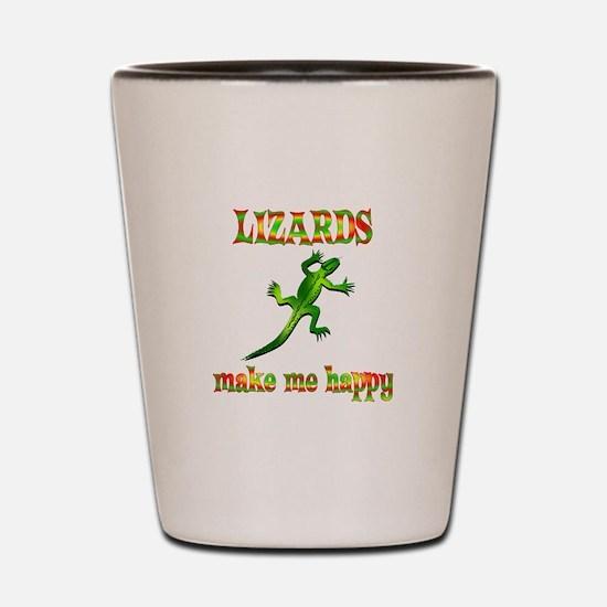 Lizards Make Me Happy Shot Glass