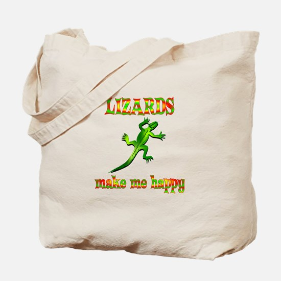 Lizards Make Me Happy Tote Bag