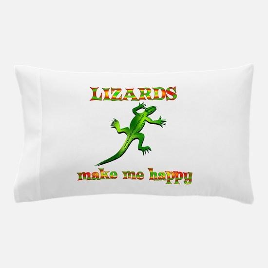 Lizards Make Me Happy Pillow Case