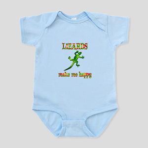 Lizards Make Me Happy Infant Bodysuit