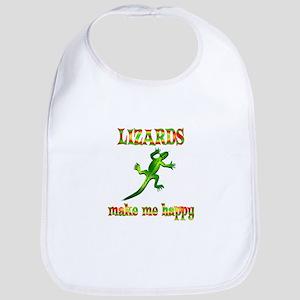 Lizards Make Me Happy Bib