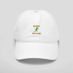 Lizards Make Me Happy Cap