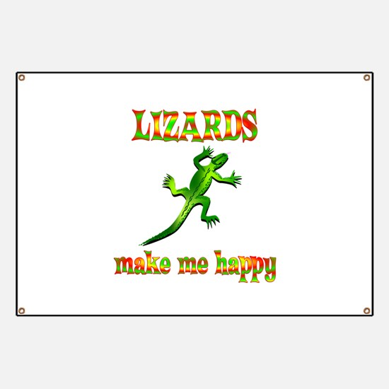 Lizards Make Me Happy Banner
