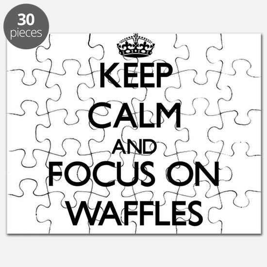 Keep Calm by focusing on Waffles Puzzle