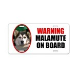 Malamute On Board Aluminum License Plate