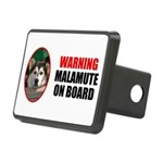 Malamute On Board Rectangular Hitch Cover