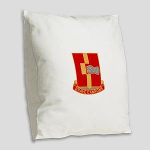 92nd Field Artillery Regiment Burlap Throw Pillow
