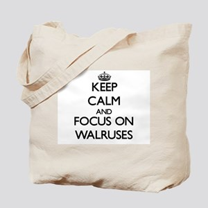 Keep Calm by focusing on Walruses Tote Bag