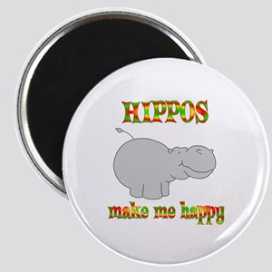 Hippos Make Me Happy Magnet