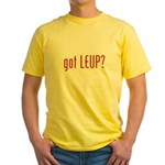 got leup? Yellow T-Shirt