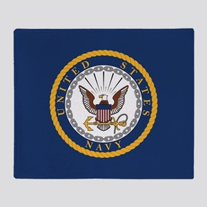 United States Navy Emblem Throw Blanket