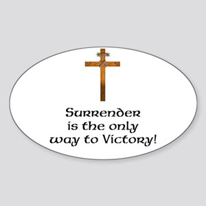 Surrender it the Only Way to Victory Sticker