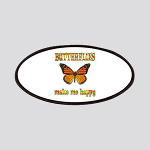 Butterflies Make Me Happy Patches