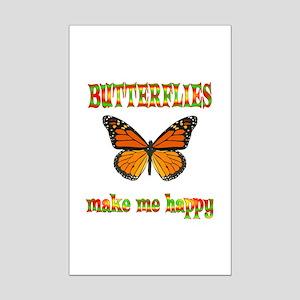 Butterflies Make Me Happy Mini Poster Print