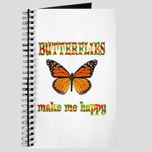 Butterflies Make Me Happy Journal