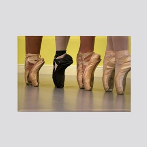 Ballet Dancers on Pointe or on Toes Magnets