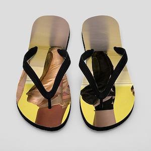 Ballet Dancers on Pointe or on Toes Flip Flops