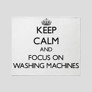 Keep Calm by focusing on Washing Mac Throw Blanket