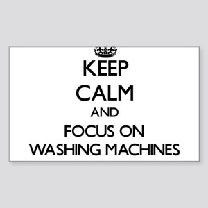 Keep Calm by focusing on Washing Machines Sticker