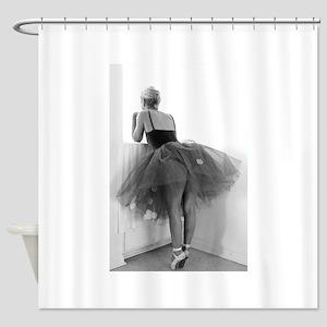 Ballerina Waiting Offstage Shower Curtain