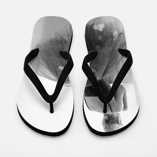Ballerina Waiting Offstage Flip Flops
