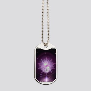 Burst of Purple Hope Dog Tags