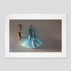 Blue Ballet Tutu Costume and Worn Pointe Shoes 5'x
