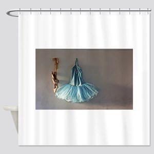 Blue Ballet Tutu Costume and Worn Pointe Shoes Sho