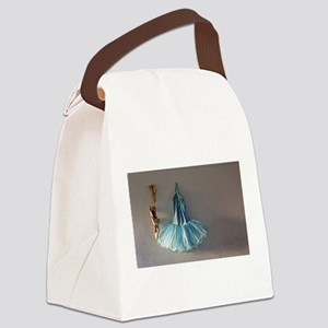 Blue Ballet Tutu Costume and Worn Pointe Shoes Can